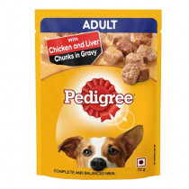 Pedigree Adult With Chicken & Liver Chunks In Gravy