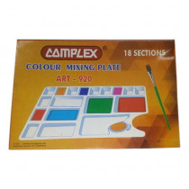 Complex Colour Mixing Plate Art-920 18 Section