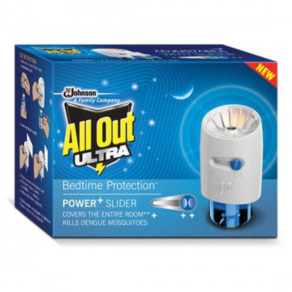 All Out Ultra Power + Slider 1N All Out Adjustable Heater (230V~5W) + 1N Liquid Refill
