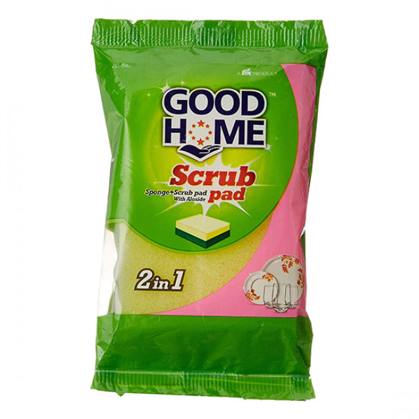 Good Home Scrub Pad With Sponge 2-in-1