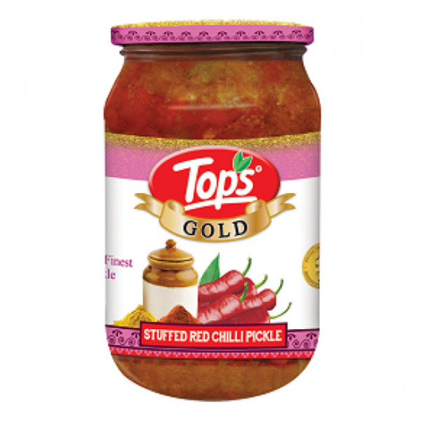 Tops Gold Stuffed Red Chilli Pickle