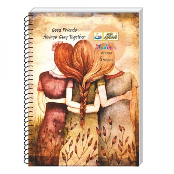 Hans Students Notebook 6 Subjects A4 Size 400 Pages
